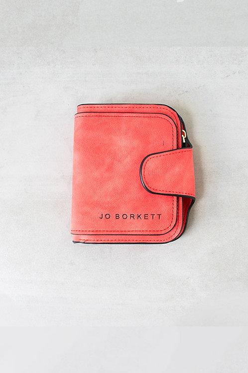 Jo Borkett Small Bi Fold Purse - Red