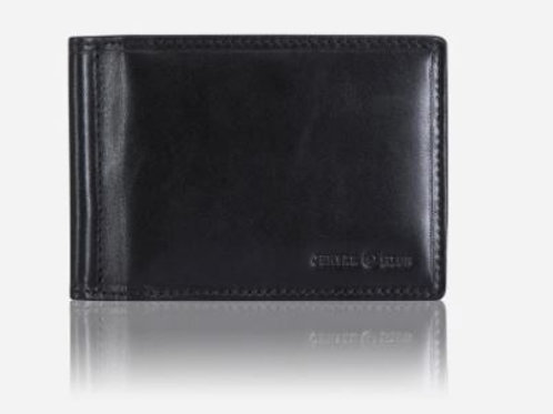 Jekyll & Hide Oxford Traditional Leather Money Clip Wallet - Black