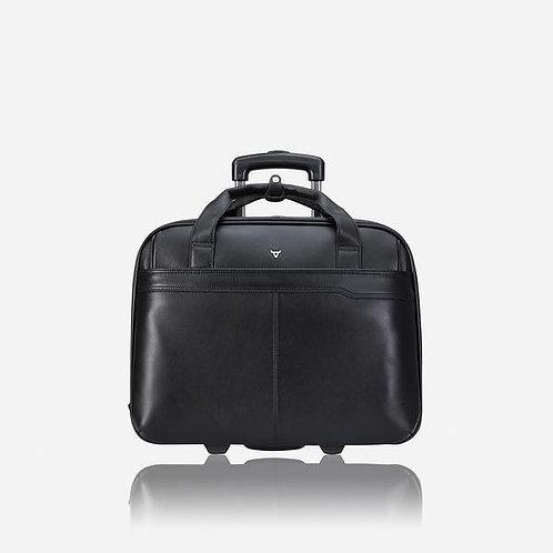 Brando Cassidy 17 Inch Laptop Trolley Briefcase & Overnight Travel Bag - Black