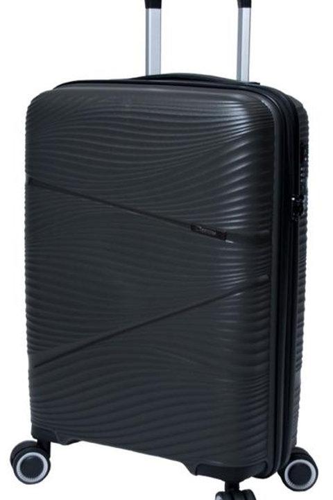 Paklite Sightseer 64cm Cabin Spinner Trolley Suitcase - Black