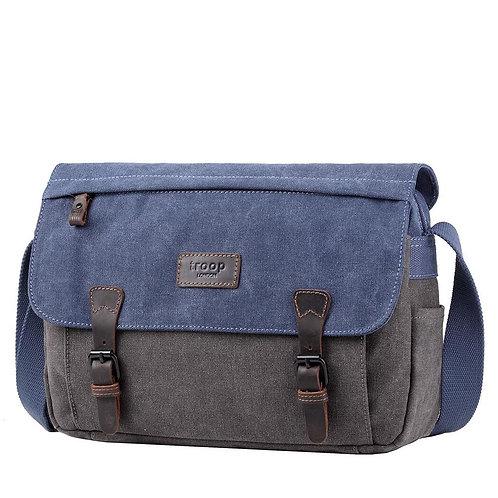 Troop Heritage Messenger Bag - Blue & Grey