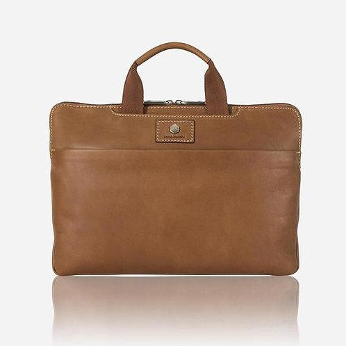 Jekyll & Hide Montana Extra Slim Laptop Briefcase - Brown