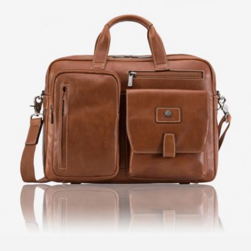 Jekyll & Hide Medium Montana Laptop Briefcase - Tan