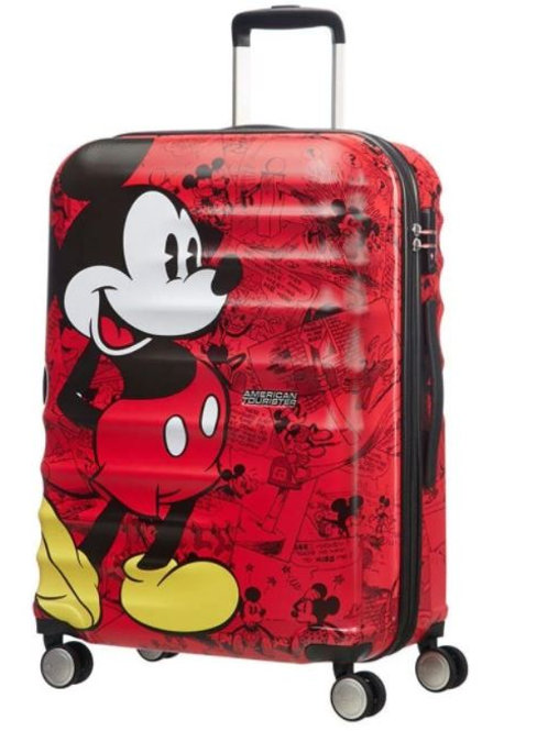 American Tourister Disney Mickey Mouse Comics Spinner Suitcase 77 cm - White