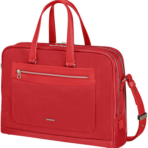 Samsonite Zalia Bailhandle Ladies Laptop Briefcase 15.6 Inch - Red