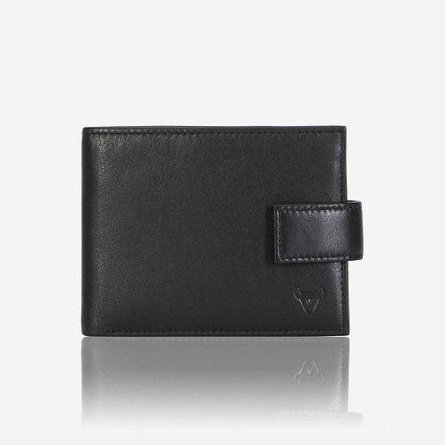 Brando Eastwood Press Stud Wallet - Black