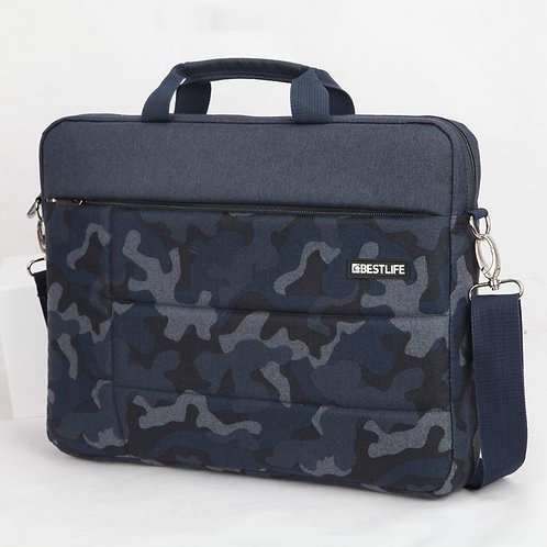 BestLife Campus 15.6 Inch Laptop Bag - Blue Camouflage
