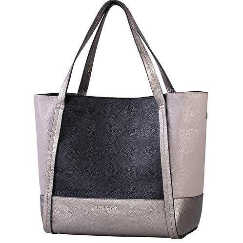 Pierre Cardin Roxy Tote Handbag - Silver Multiple