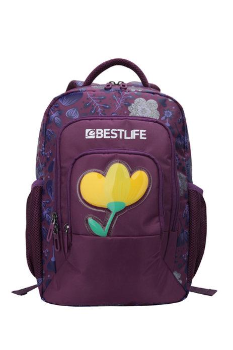 BestLife Campus Backpack - Purple Floral