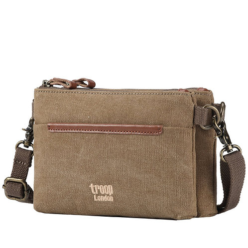 Troop Double Compartment Crossbody - Brown