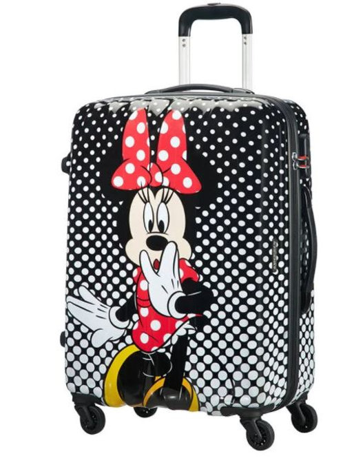 American Tourister Disney Minnie Mouse Polka Dot Spinner Suitcase 55 cm - Black