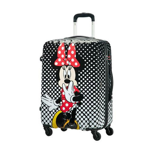 American Tourister Disney Minnie Mouse Polka Dot Spinner Suitcase 65 cm - Black