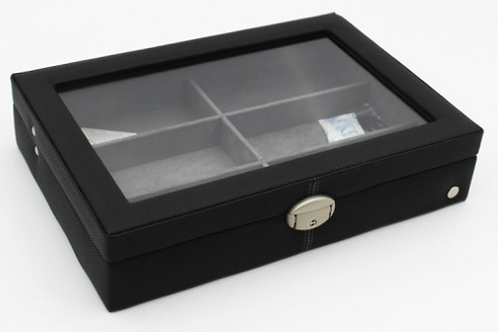 CaraMia Sunglass Box Case - Black Carbon Fibre