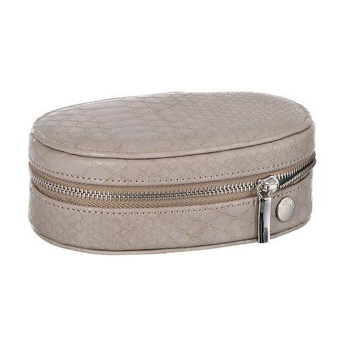 CaraMia Oval Traveller - Platinum Grey Snake
