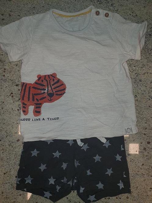 M & S T-Shirt H & M Shorts 6-9 months