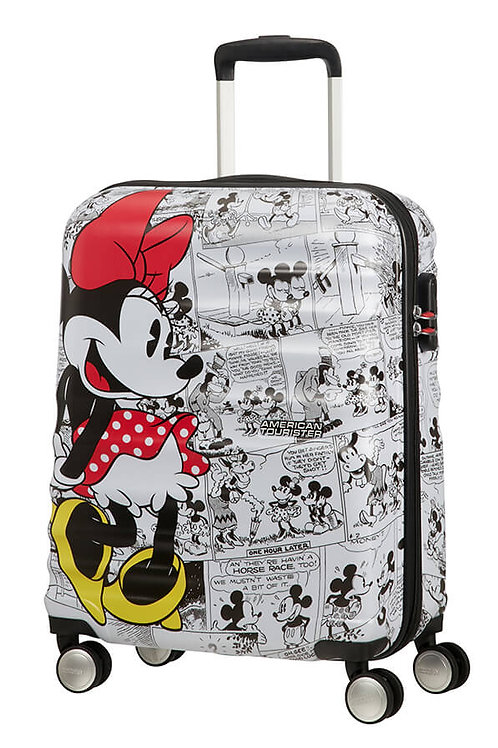 American Tourister Disney Minnie Mouse Comics Spinner Suitcase 55 cm - White