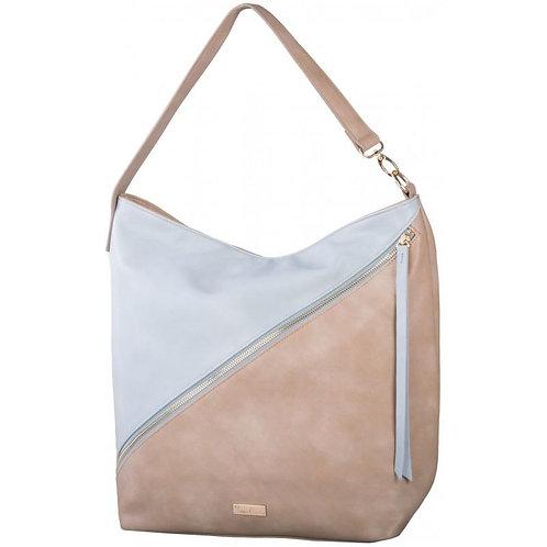 Pierre Cardin Nicola Hobo Handbag - Taupe & Light Blue