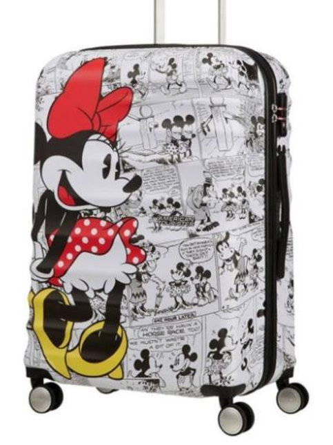 American Tourister Disney Minnie Mouse Comics Spinner Suitcase 67 cm - White