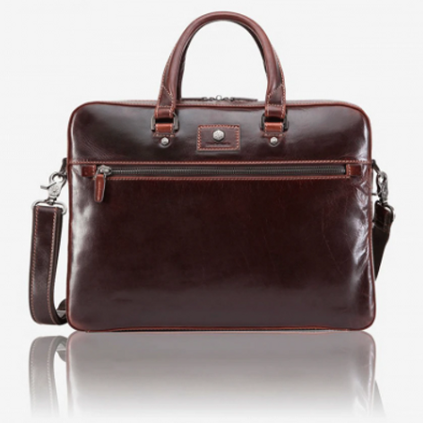 Jekyll & Hide Oxford Slim Laptop Briefcase - Tobacco