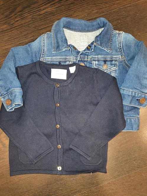Gap Denim Jacket & Zara Jersey 12-18 months