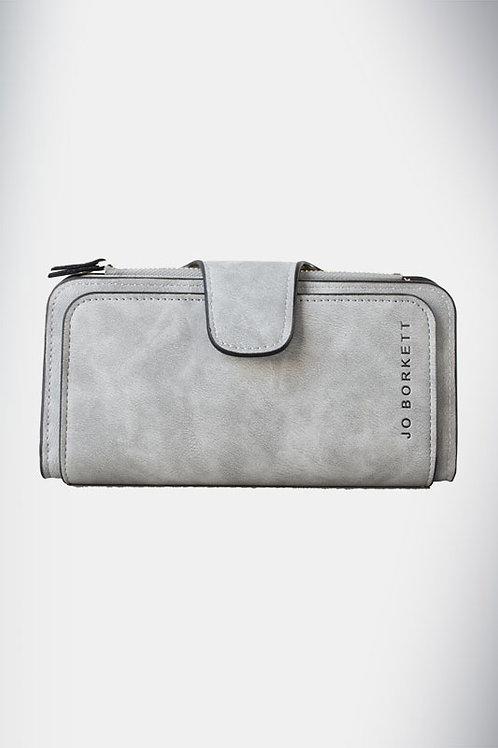 Jo Borkett Nu Buck Bi Fold Purse - Grey