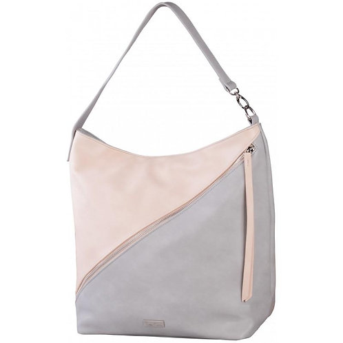 Pierre Cardin Nicola Hobo Handbag - Grey & Dusty Pink