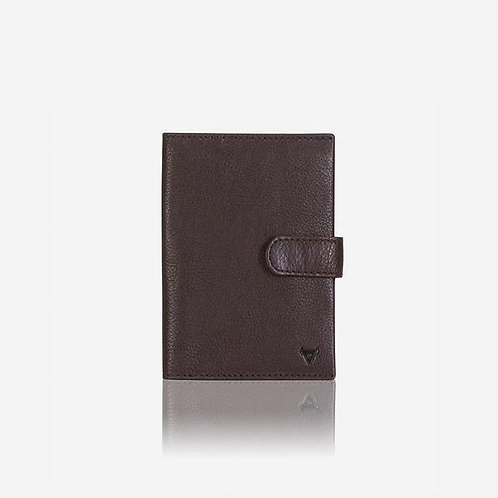 Brando Impala Passport Holder - Dark Brown