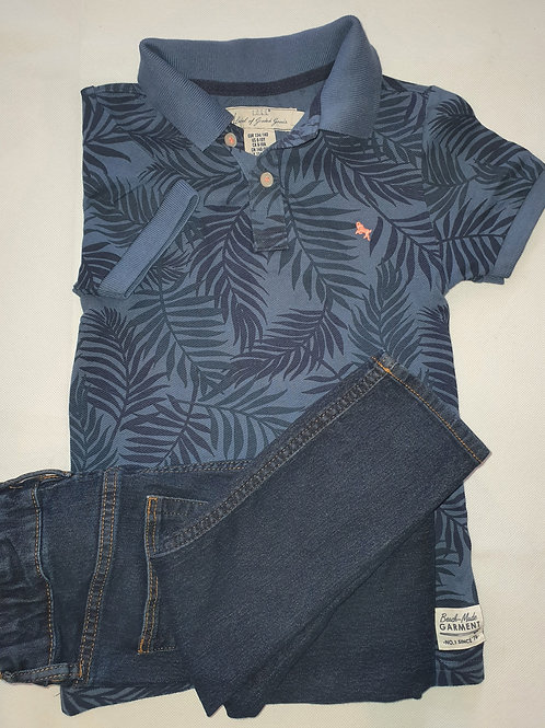 H & M Top and Jeans 9 yrs