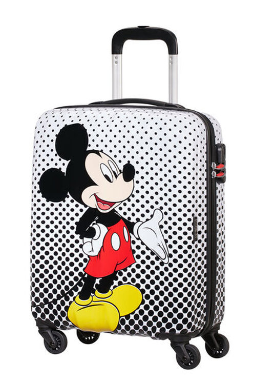 American Tourister Disney Mickey Mouse Polka Dot Spinner Suitcase 55 cm -White