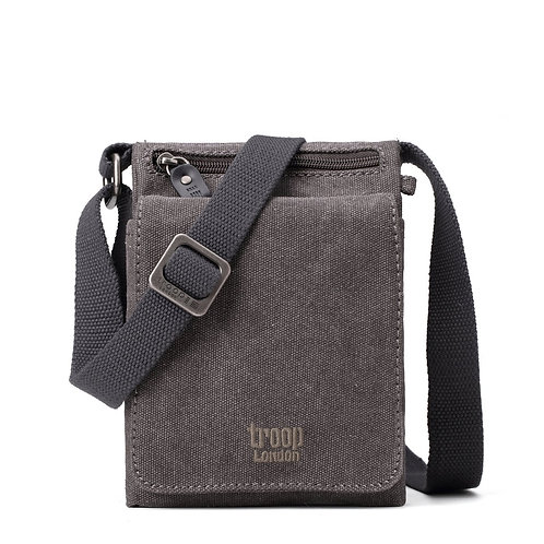 Troop Small Fold Over Shoulder  Bag - Charcoal
