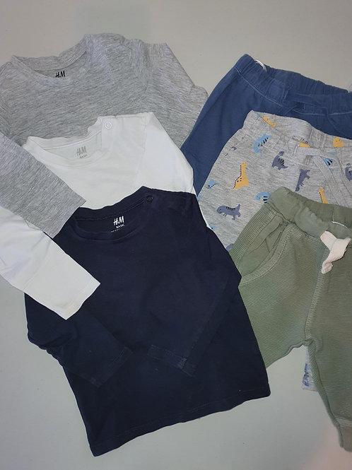 H & M Basic Cotton Tops & Pants 6-9 months