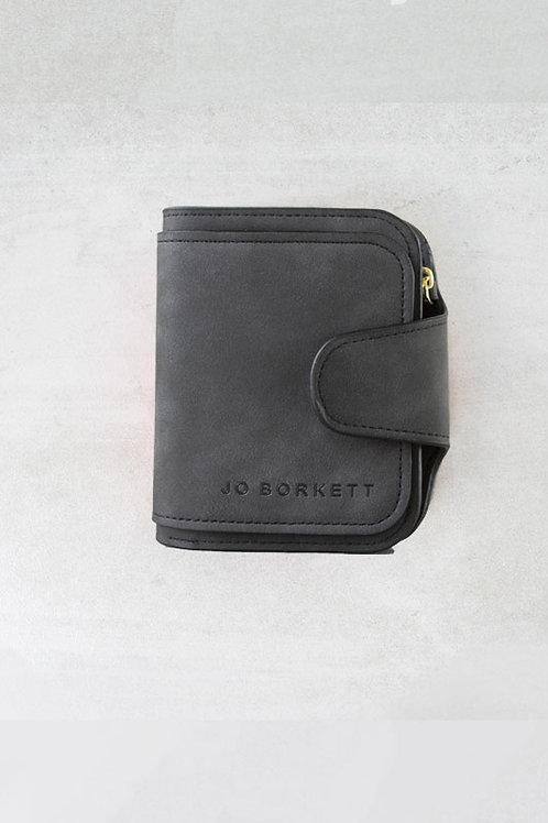 Jo Borkett Small Bi Fold Purse - Black