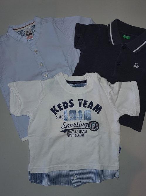 3x Kids Shirts 6 months
