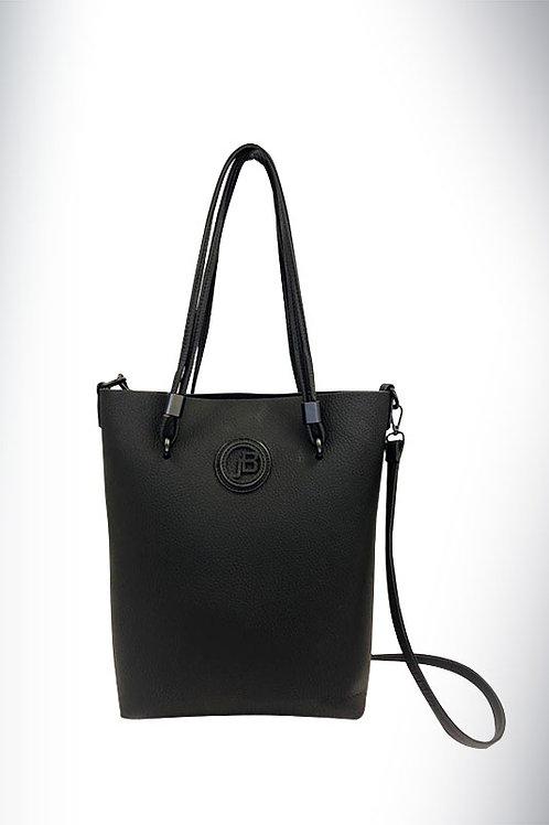 Jo Borkett Nu Buck Convertible Tote Handbag - Black