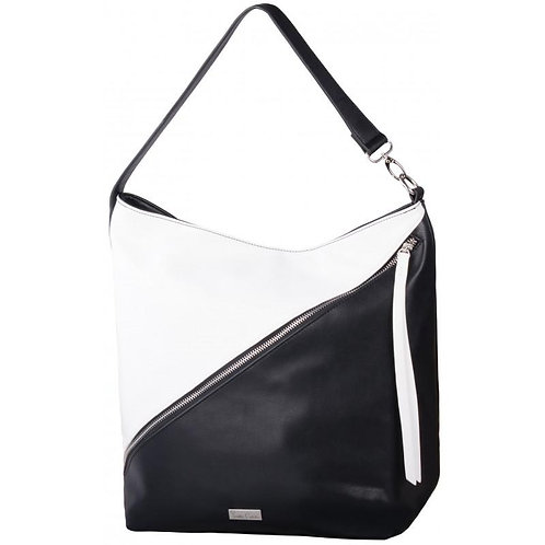 Pierre Cardin Nicola Hobo Handbag - Black & White