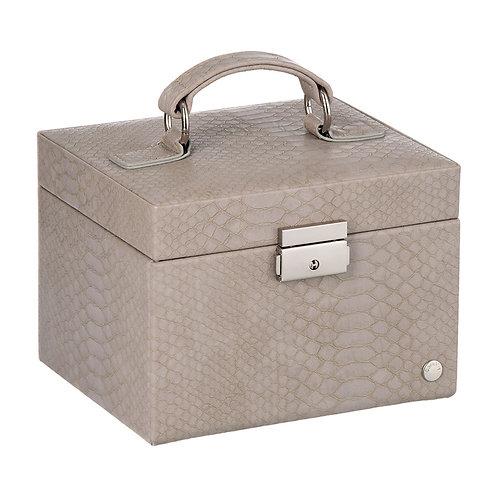 CaraMia Small Jewellery Box - Platinum Grey Snake