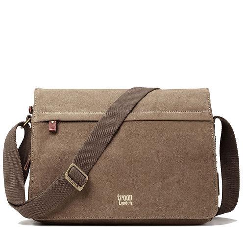 Troop Laptop Messenger Bag - Brown