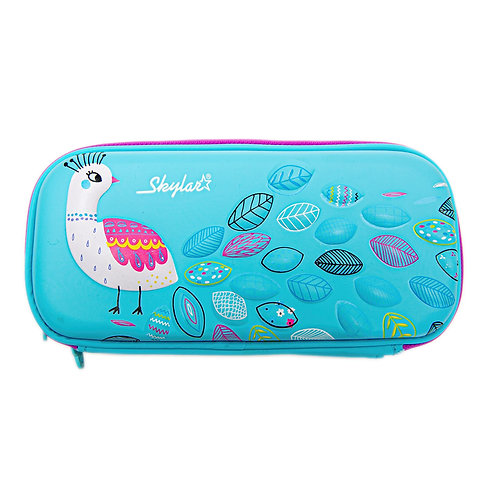 Skylar Peacock Hard Shell Pencil Case