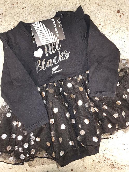 All Blacks Girls Dress 9-12 months
