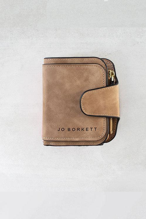 Jo Borkett Small Bi Fold Purse - Tan