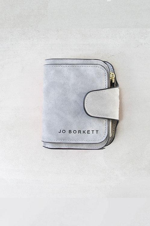 Jo Borkett Small Bi Fold Purse - Grey