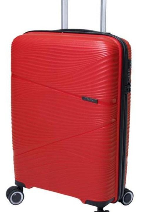 Paklite Sightseer 74cm Cabin Spinner Trolley Suitcase - Red