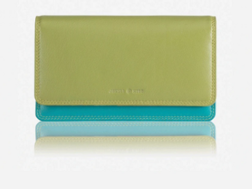 Jekyll & Hide Large Flap Over Pacific Purse - Green
