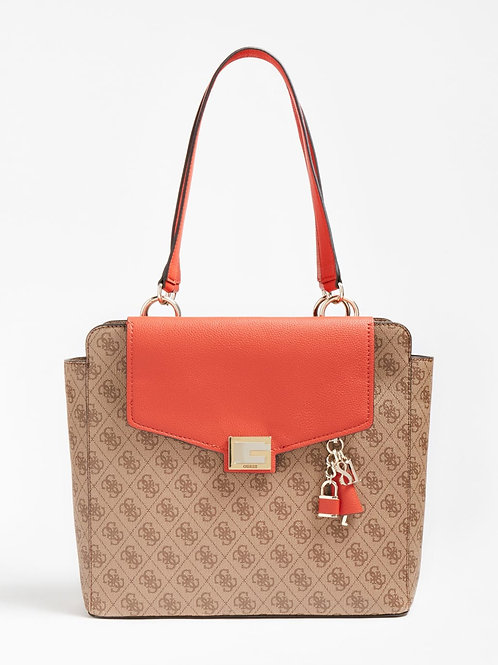 Guess Valy Status Carryall - Rust