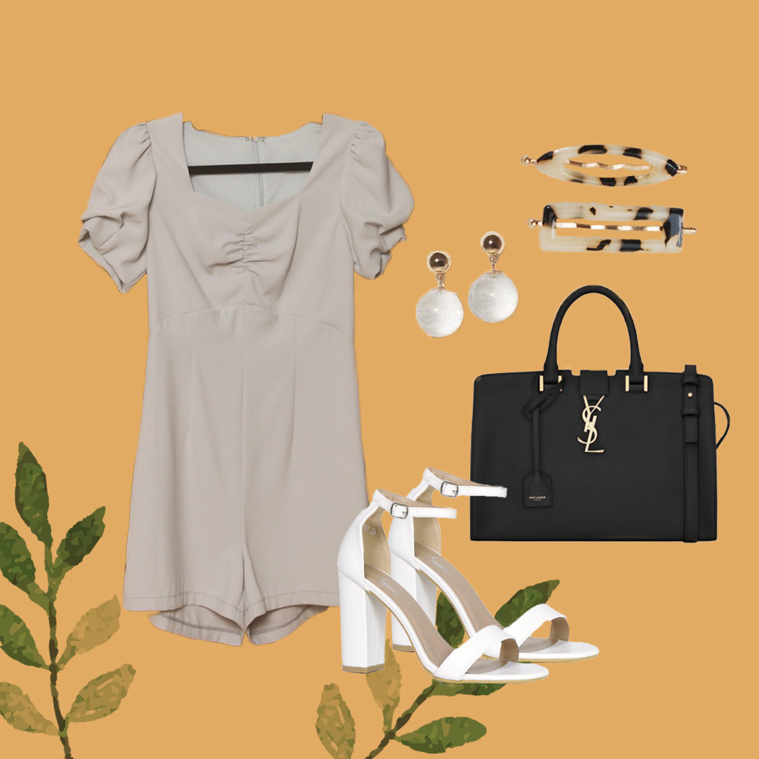 Brittany Puff'd-Up Romper (Flatlay - WW)