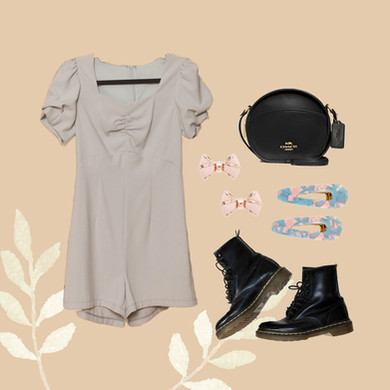 Brittany Puff'd Up Romper (Flatlay - GG)