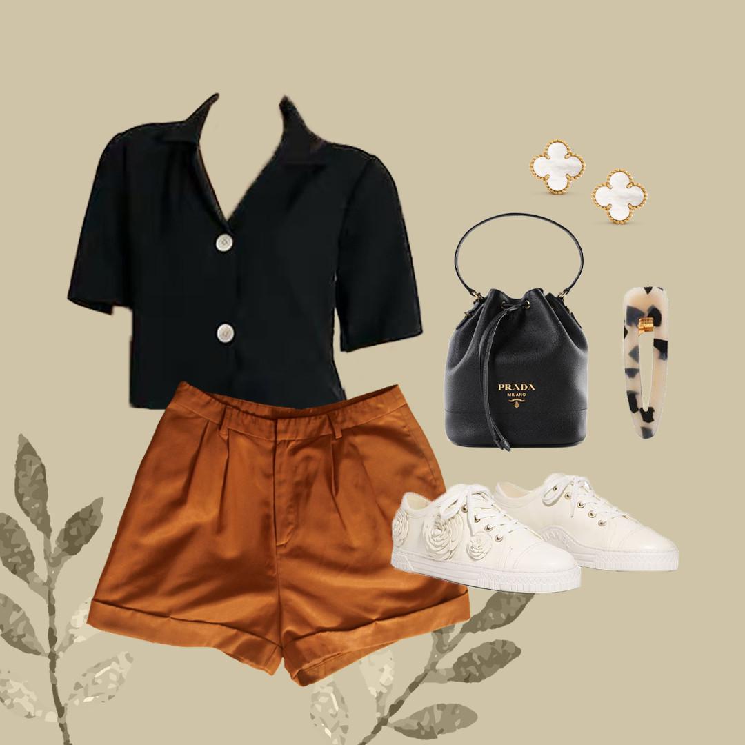 Olivia Hihg-Waisted Shorts (Flatlay - GG