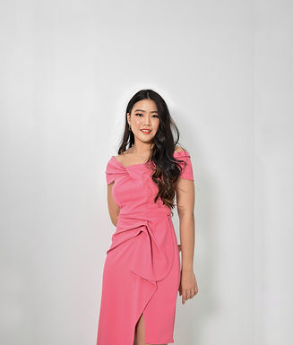 Cayla Off-Shoulder Midi Dress