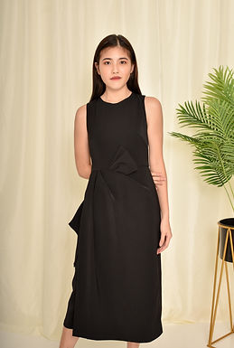 Meghan Front Bow Midi Dress