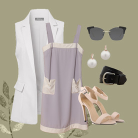 Lindsey Chest-Belt Dress (Flatlay - WW).